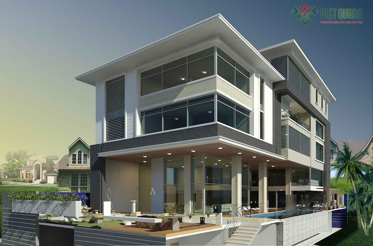 Cách tính chi phí / m2 xây dựng nhà dân dụng cho nhà phố và nhà biệt thự tại TP HCM.