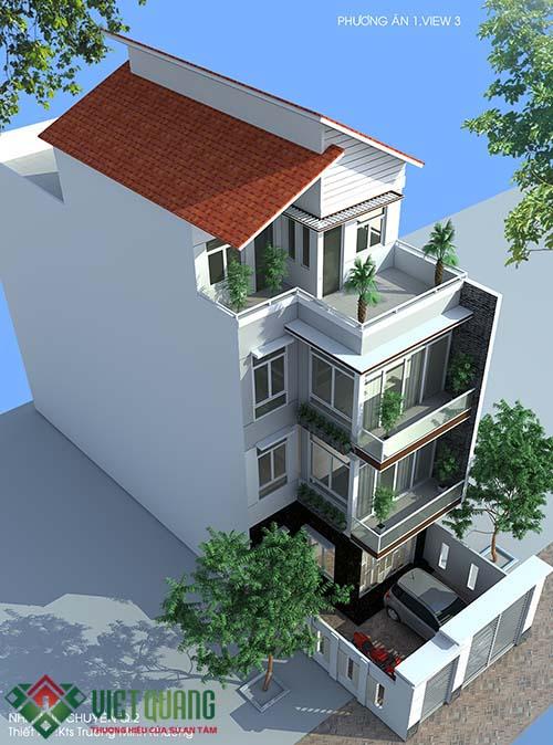 Những ý tưởng thiết kế nhà Phố 4.5* 15 3 tầng rưỡi