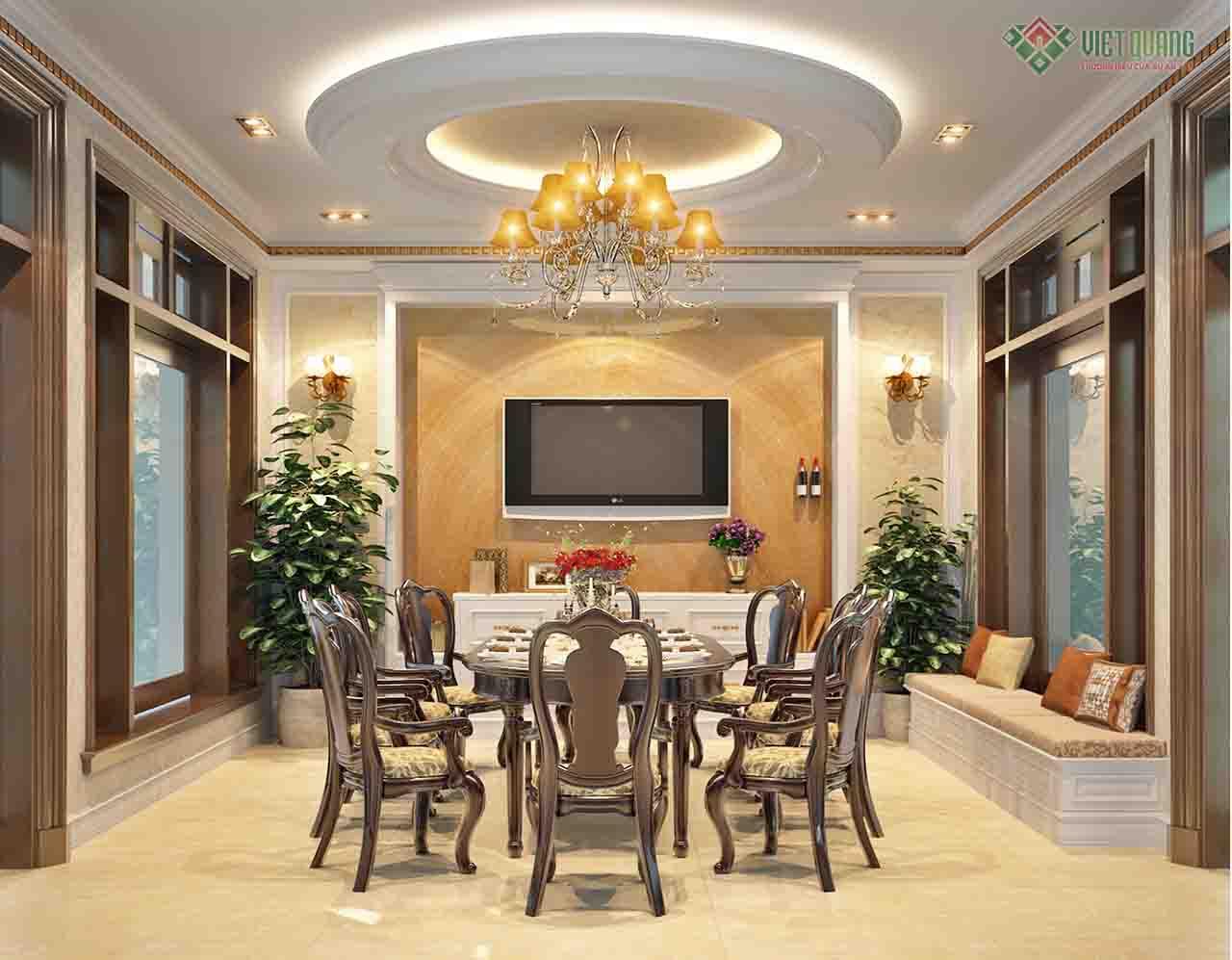 Mẫu thiết kế nội thất tân cổ điển đẹp khỏi chê