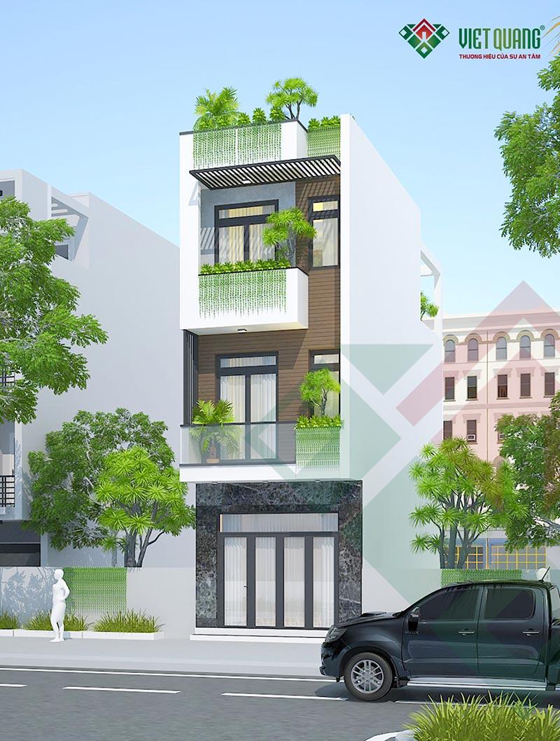 Mẫu thiết kế nhà phố 3 tầng hiện đại 4 x 13m tại quận 12