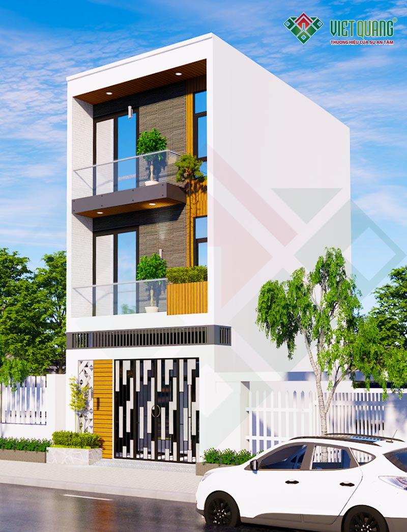 Mẫu thiết kế nhà phố 1 trệt 2 lầu 4 x 11m tại quận Bình Thạnh