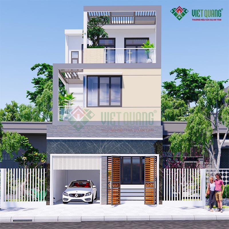 Mẫu thiết kế nhà phố 3 tầng đẹp, hiện đại