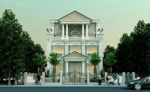 Nhà biệt thự kiến trúc phong cách Châu Âu