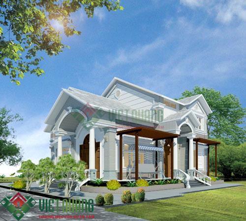 Ngắm nhìn căn nhà biệt thự vườn mái thái đẹp mê mẩn M04