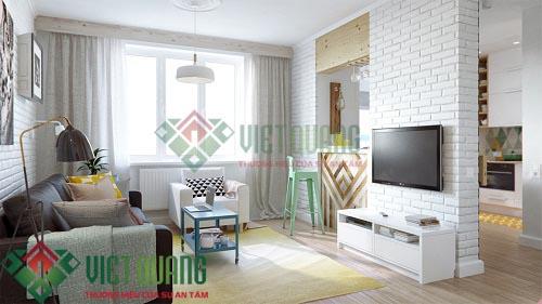 Mẫu thiết kế nội thất chung cư nhỏ và đẹp dưới 50m2