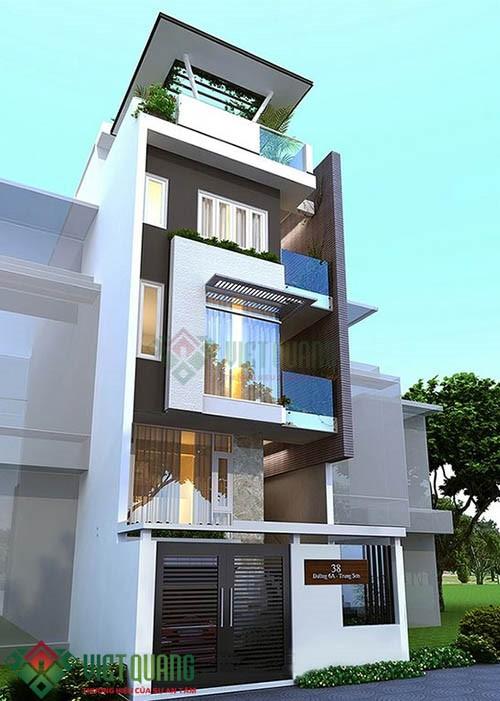Những ý tưởng thiết kế nhà phố diện tích rộng 5m x 17m 3, 4 tầng