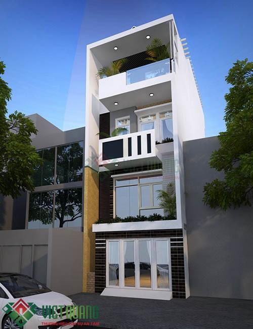 Những ý tưởng thiết kế nhà Phố 4.5 15 3 tầng rưỡi 3