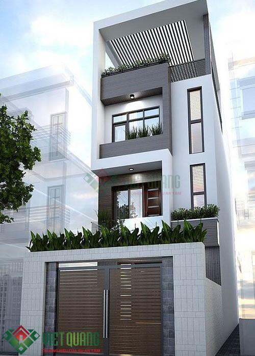 Những ý tưởng thiết kế nhà Phố 4.5 15 3 tầng rưỡi 4