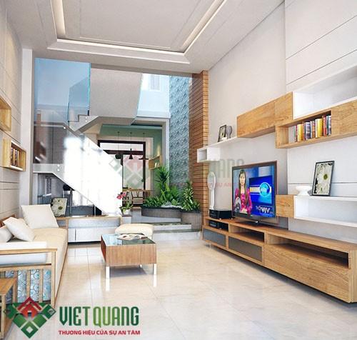 Những ý tưởng thiết kế nhà Phố 4.5 15 3 tầng rưỡi 7