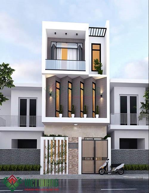 Những ý tưởng thiết kế nhà phố diện tích rộng 5m x 17m 3, 4 tầng 1