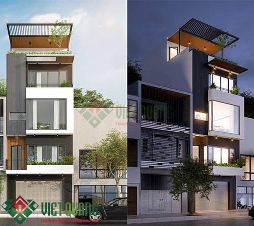 Những ý tưởng thiết kế nhà phố diện tích rộng 5m x 17m 3, 4 tầng 2
