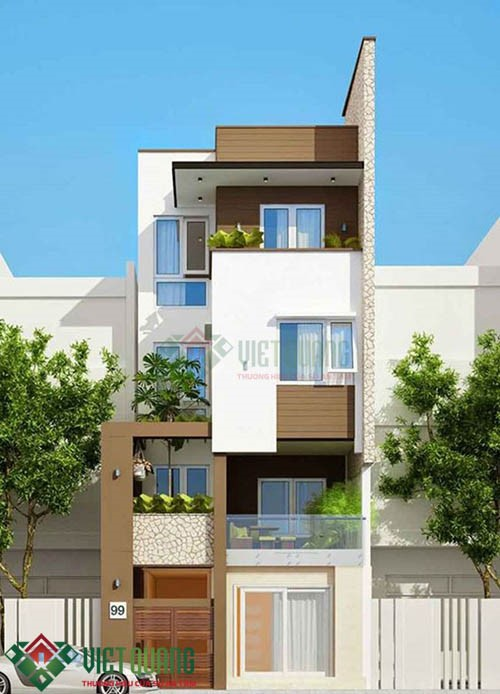 Những mẫu thiết kế nhà phố phong cách Châu âu hiện đại