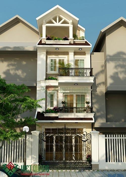 Những ý tưởng thiết kế nhà phố diện tích rộng 5m x 17m 3, 4 tầng 5