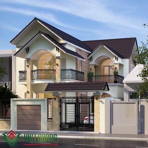 Những mẫu thiết kế biệt thự 2 tầng sang trọng đẹp nhất Sài Gòn 1