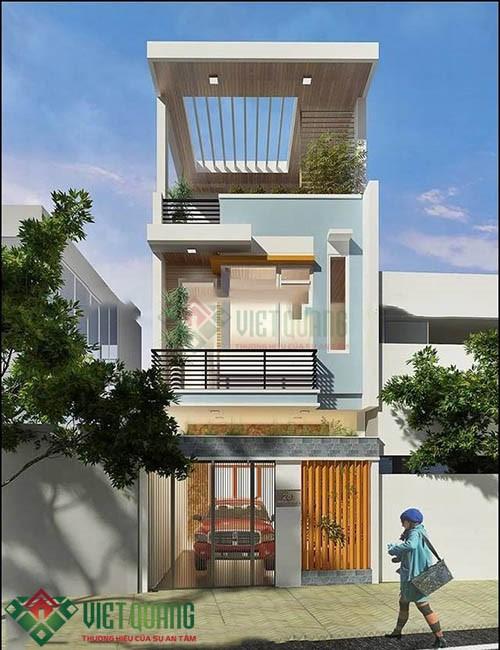 Những mẫu thiết kế nhà phố phong cách Châu Âu hiện đại 1