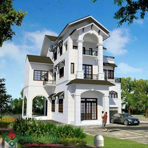 Ngất ngây với mẫu nhà biệt thự 2 tầng hiện đại mang nét đẹp Á Đông M02