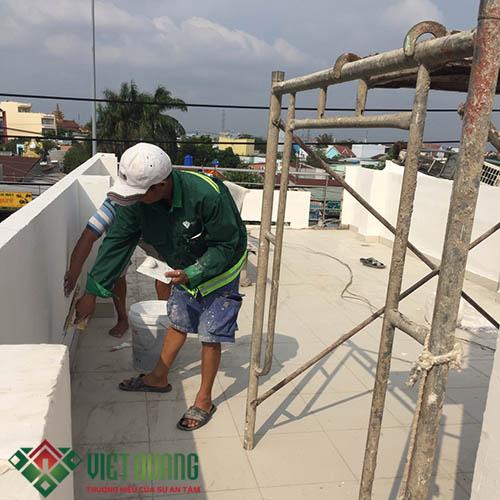 Thi Công sửa chữa,  cải tạo sơn hoàn thiện sân thượng