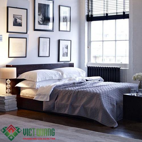 không gian phòng ngủ được tân trang sửa chữa