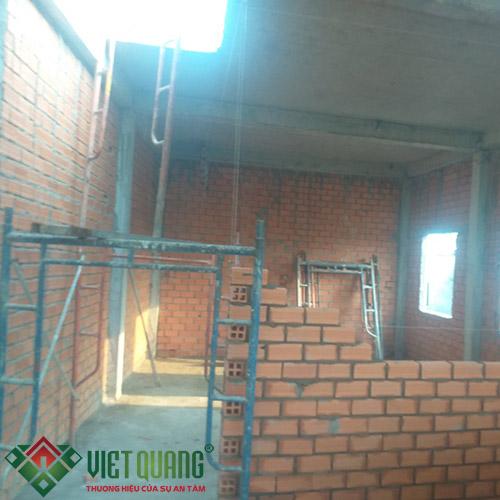 Công đoạn thi công xây tường và vách ngăn phòng
