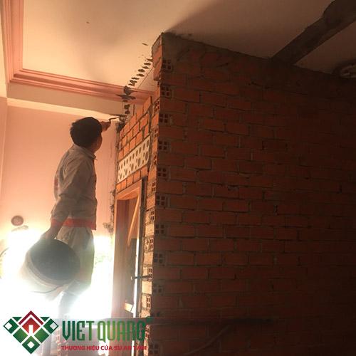 Công đoạn thi công xây thêm nhà vệ sinh