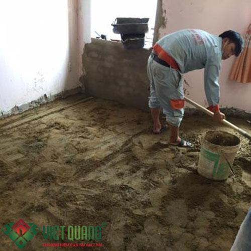 Công đoạn thi công cải tạo nâng nền nhà
