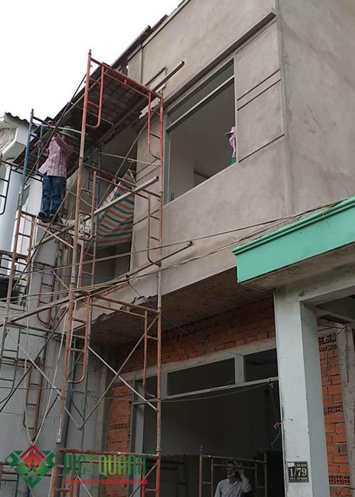 Quá trình thi công tô tường ngoại thất ngôi nhà