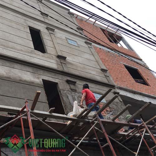 Thi công nhà phố 2 mặt tiền đẹp ở quận Tân bình