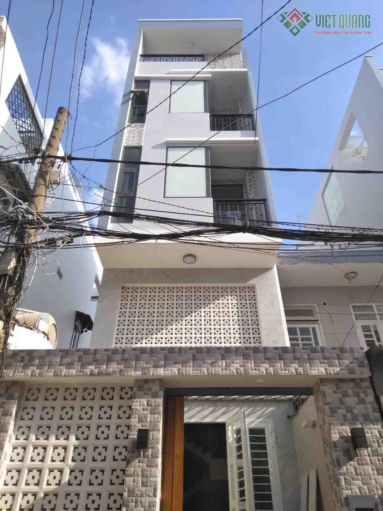Xây dựng nhà phố 4 tầng anh Kim quận Bình Thạnh