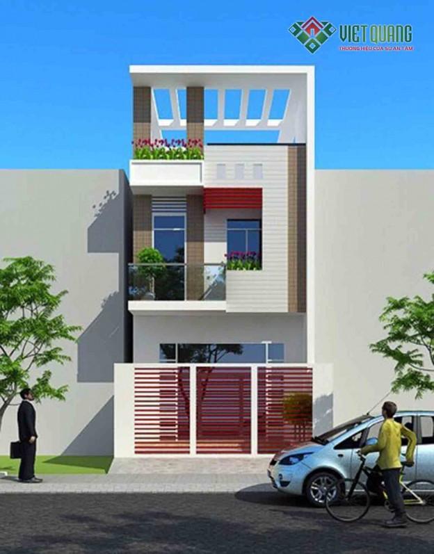Xây nhà phố 3 tầng nhà anh Thái Quận Bình Tân