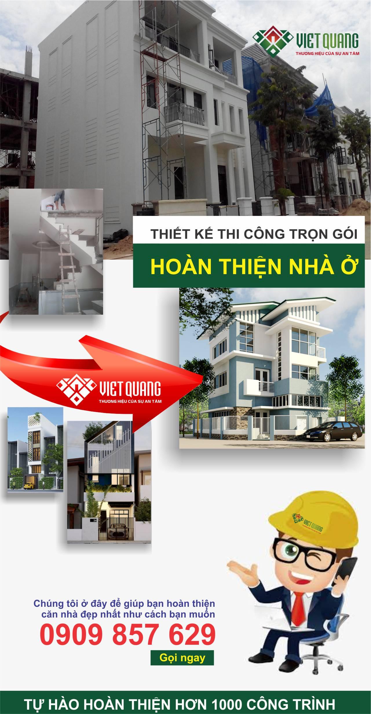 Bảng báo giá hoàn thiện nhà ở đã xây dựng thô- Việt Quang Group