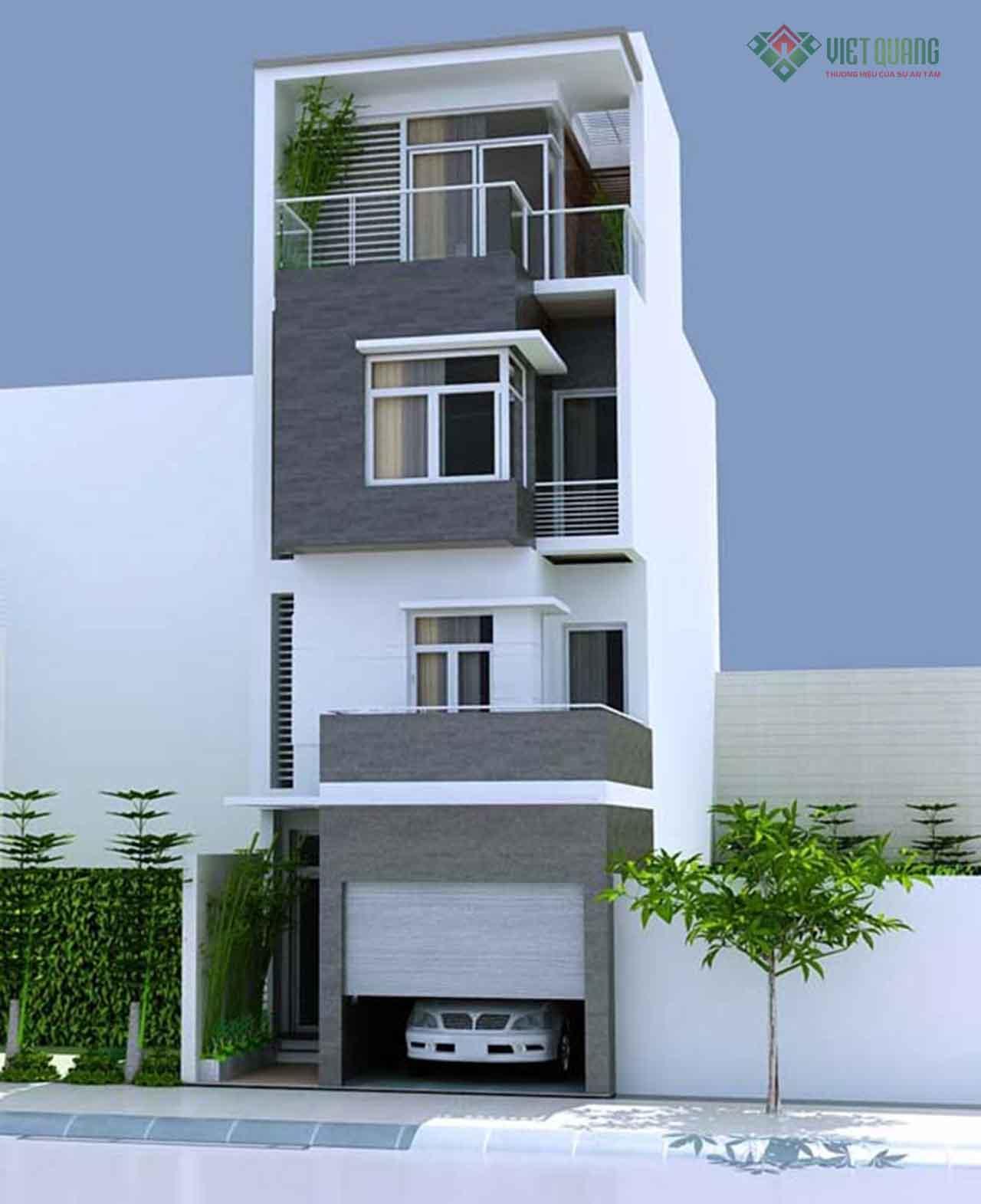 Chi phí xây nhà 4 tầng 50m2 – Việt Quang Group