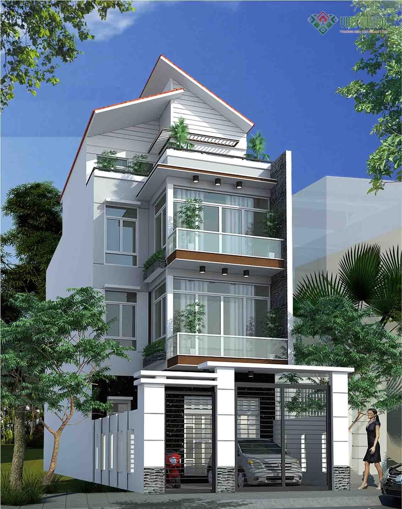 Chi phí xây nhà 4 tầng 80m2 – Việt Quang Group