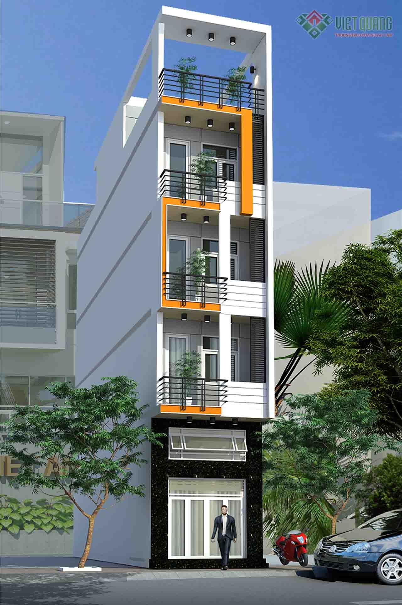 Xây nhà 6 tầng 60m2