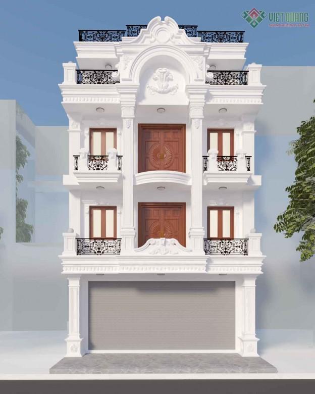 Xây dựng nhà phố tân cổ điển cô Hương quận 10