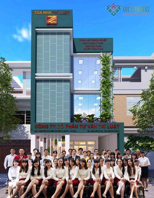 Xây dựng nhà phố 4 tầng công ty Trí Luật