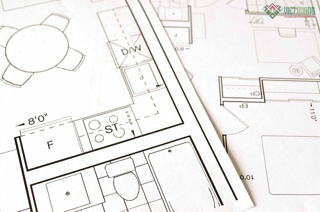 Chuẩn bị bản vẽ thiết kế trước khi tiến hành xây nhà