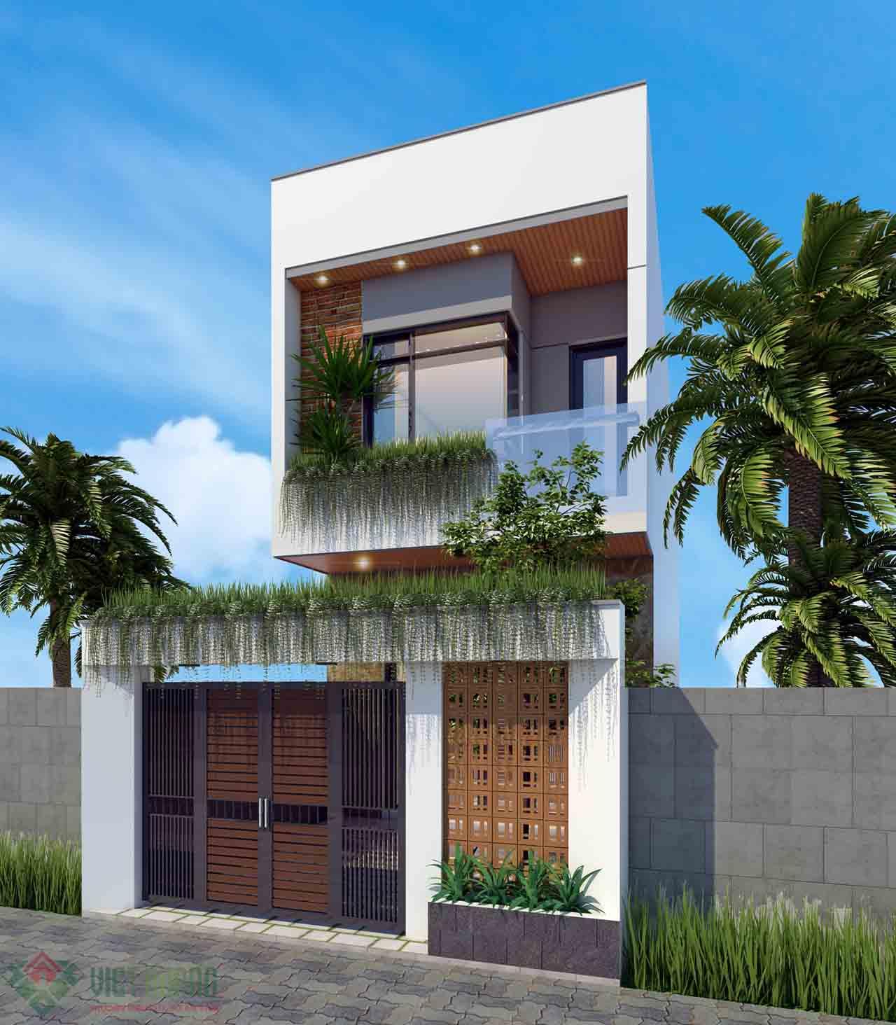 Đơn giá thiết kế xây dựng nhà 2 tầng 50m2
