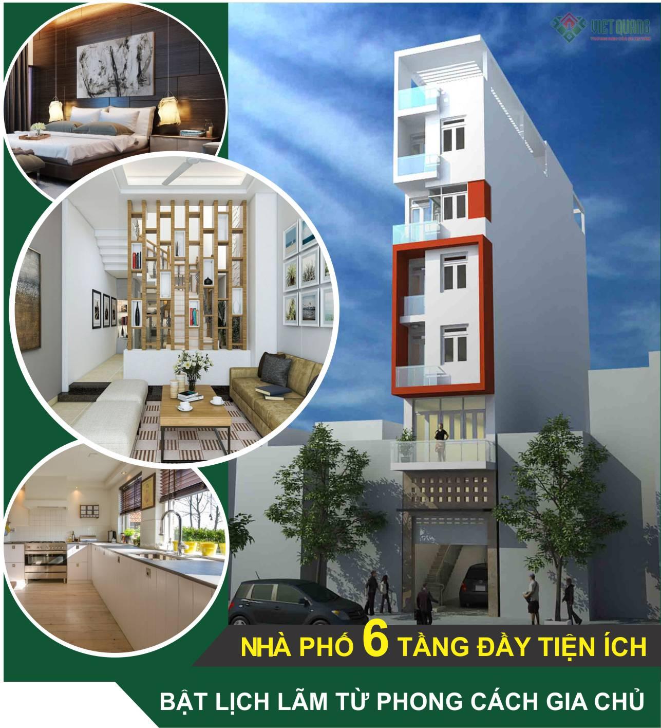 Đơn giá thiết kế xây dựng nhà 6 tầng 90m2