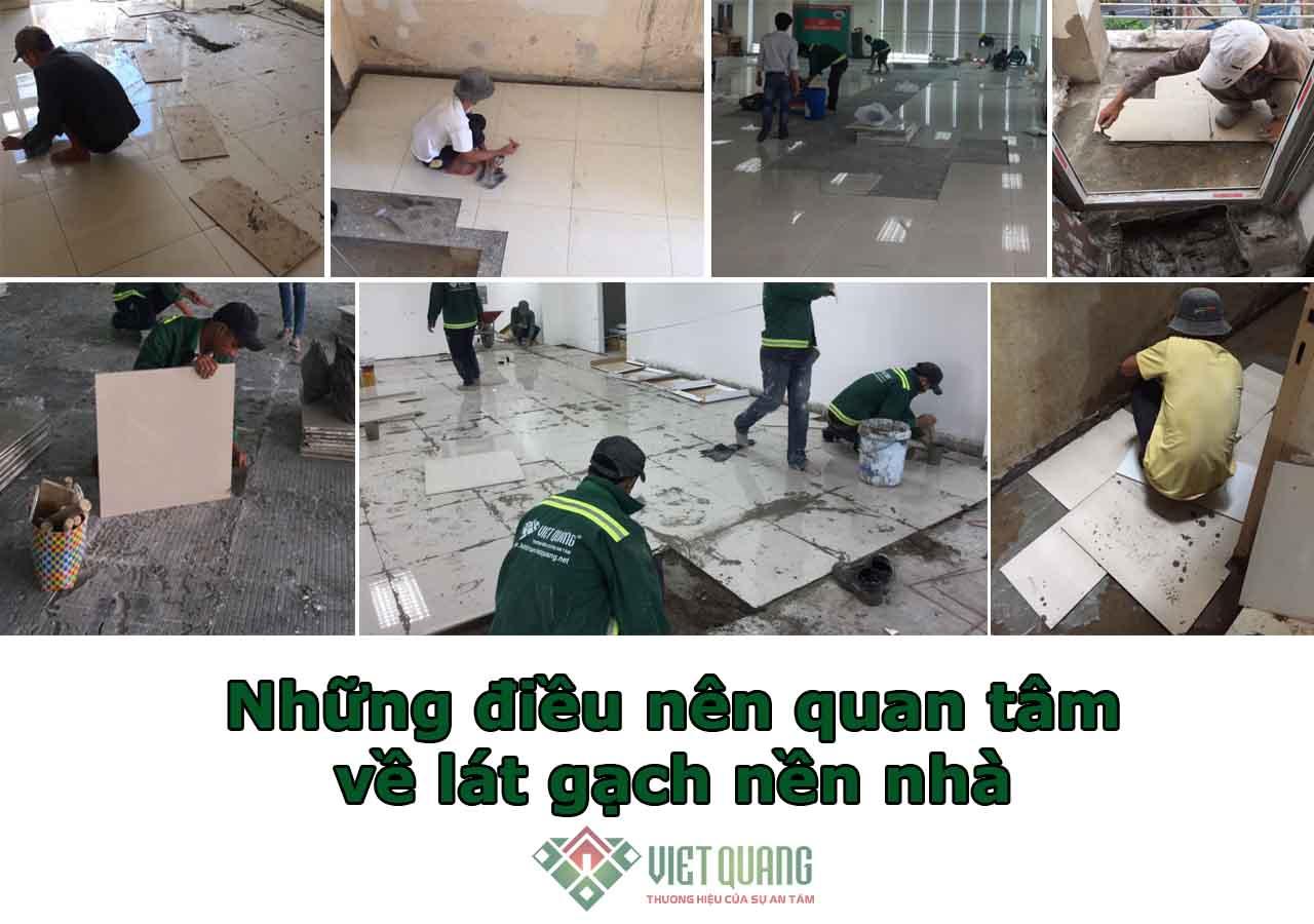 Những điều nên quan tâm về lát gạch nền nhà