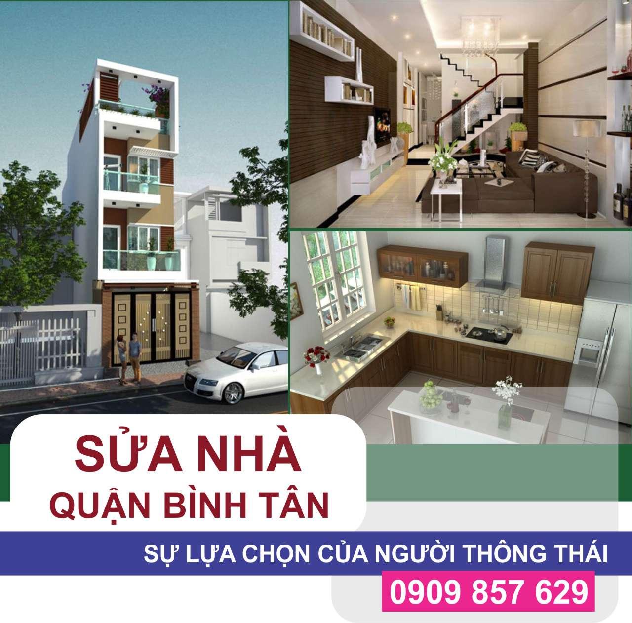 Nhà thầu chuyên sửa nhà tại Quận Bình Tân