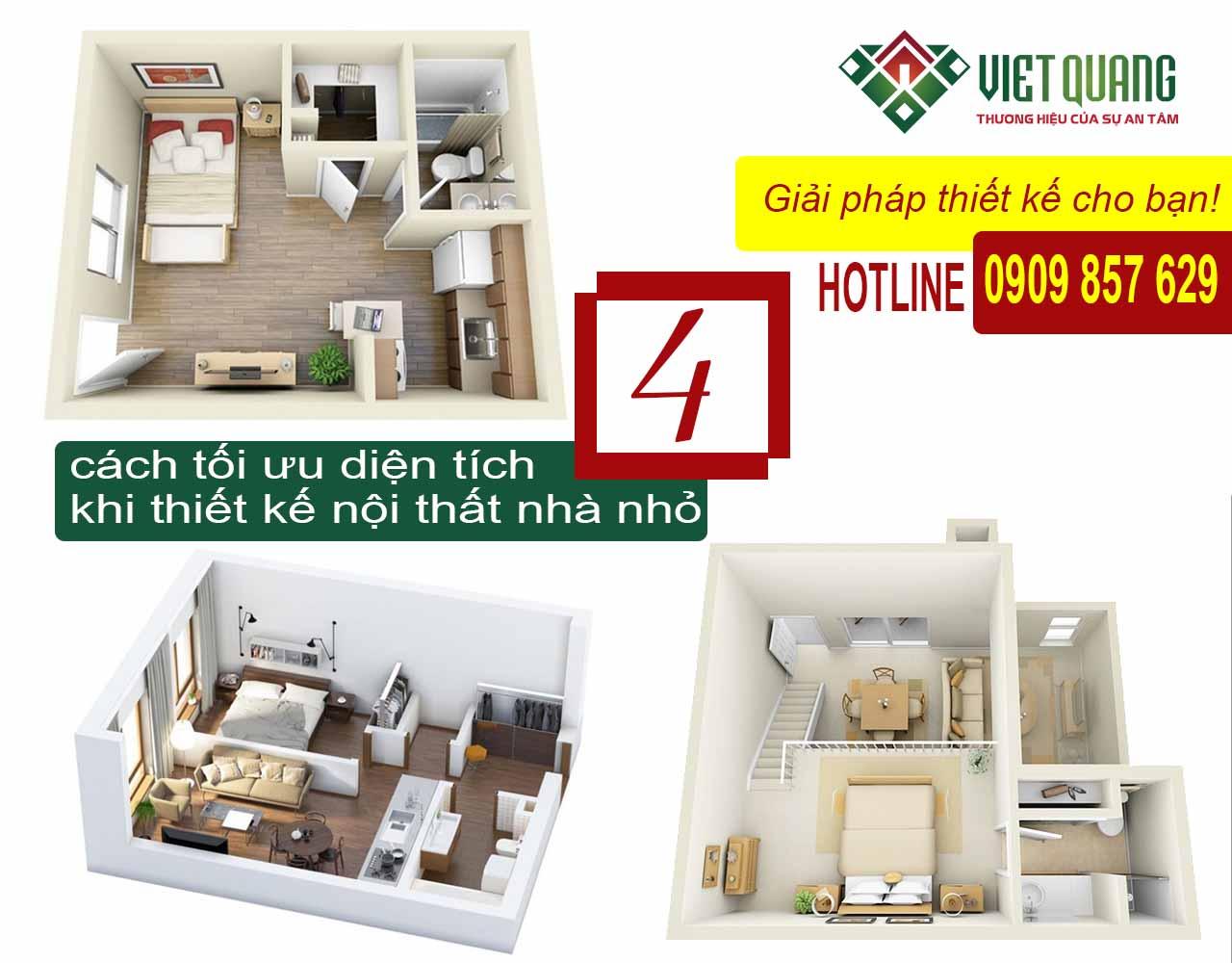 4 cách tối ưu diện tích khi thiết kế nội thất nhà nhỏ
