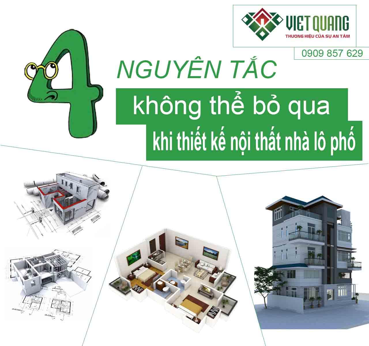 4 nguyên tắc không thể bỏ qua khi thiết kế nội thất nhà lô phố