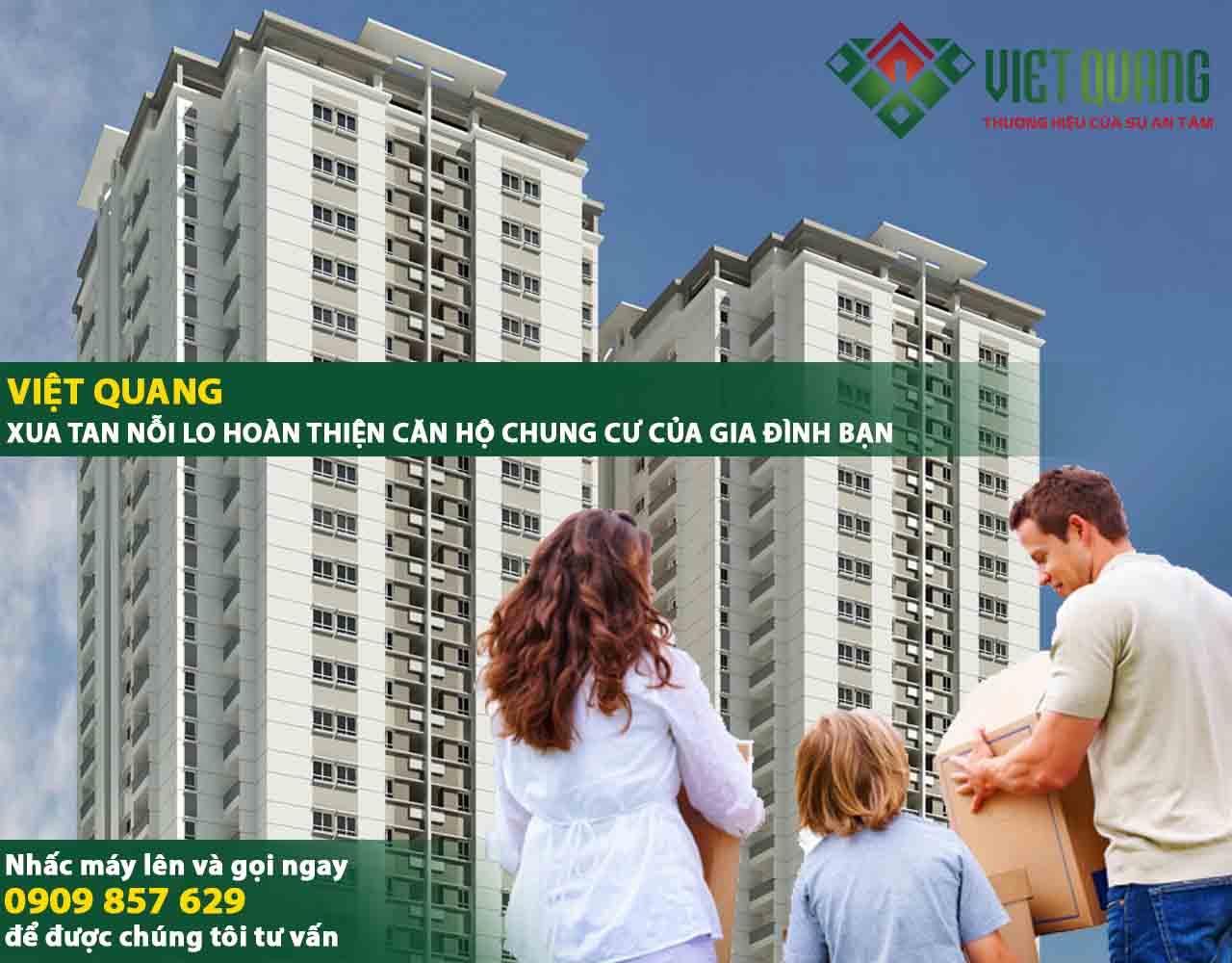 Đơn giá hoàn thiện căn hộ chung cư tại TP HCM