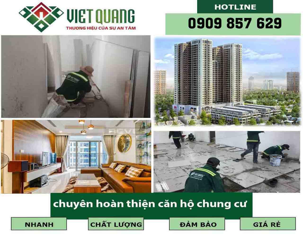 Công ty chuyên hoàn thiện căn hộ chung cư