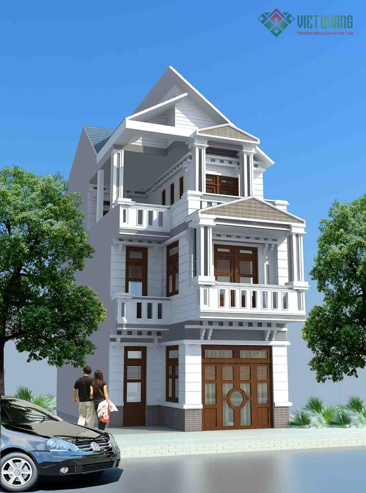 Mẫu Thiết kế nhà phố 3 tầng đẹp nhất hiện nay