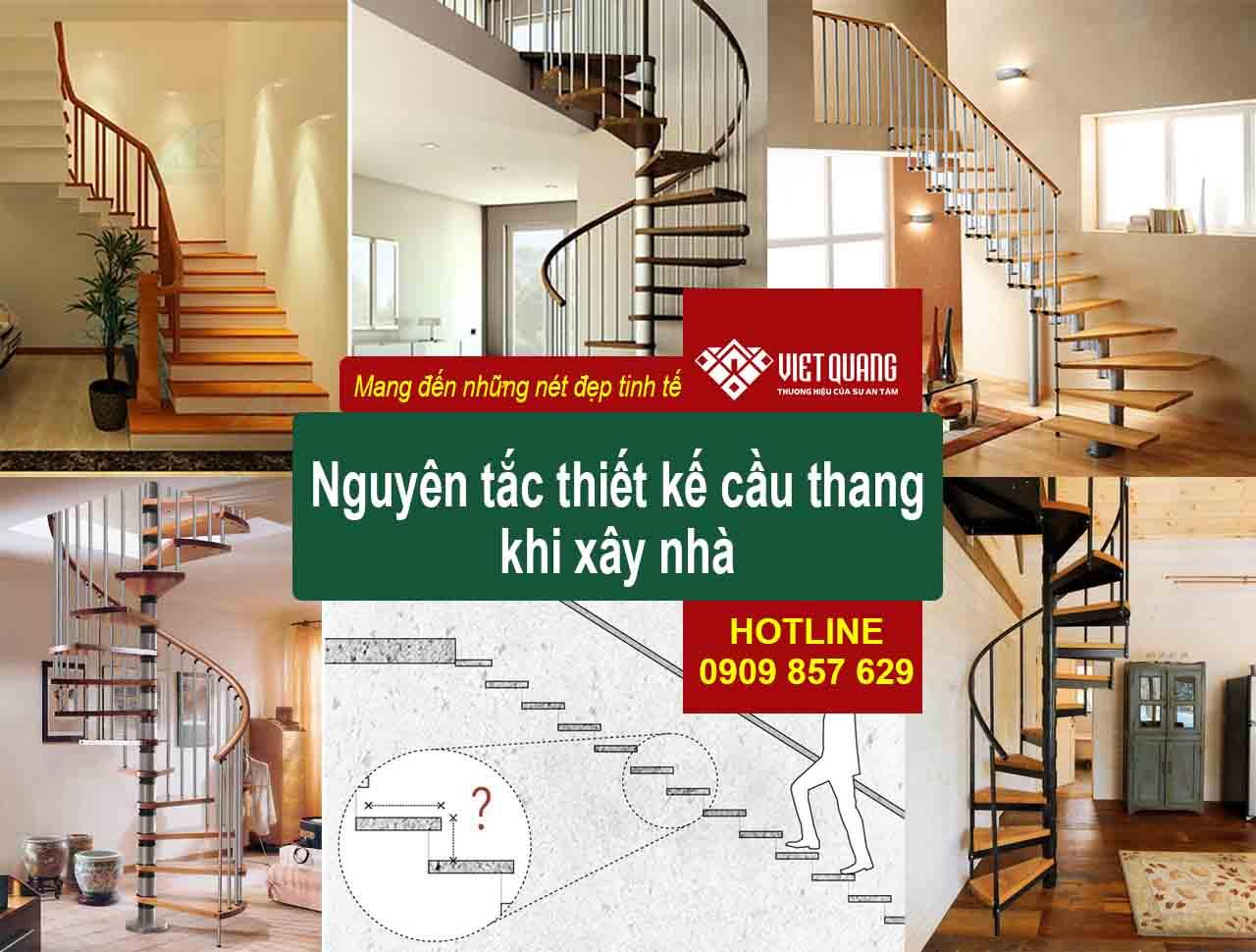 Nguyên tắc thiết kế cầu thang khi xây nhà