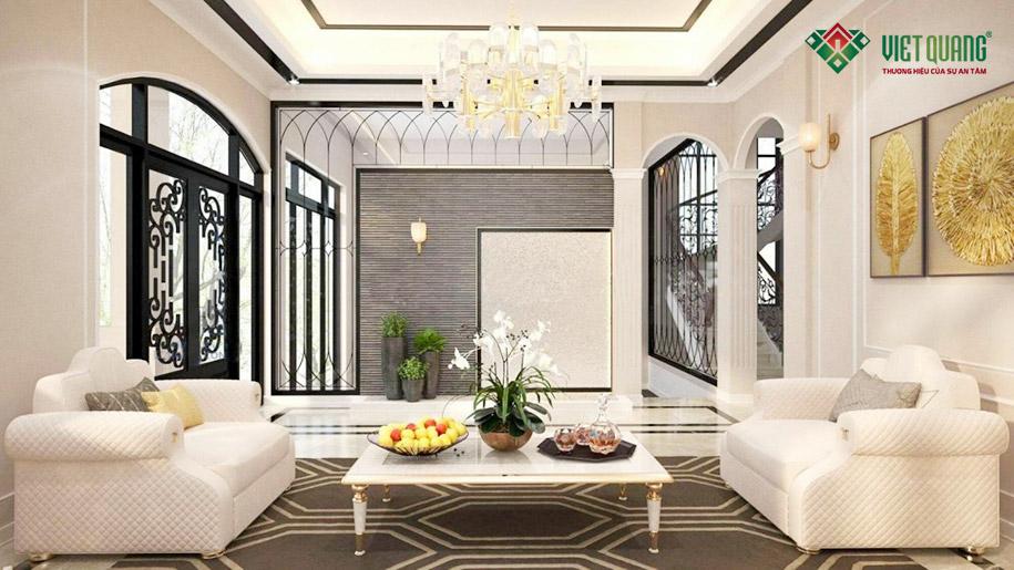 Hoàn thiện trang trí nội thất phòng khách