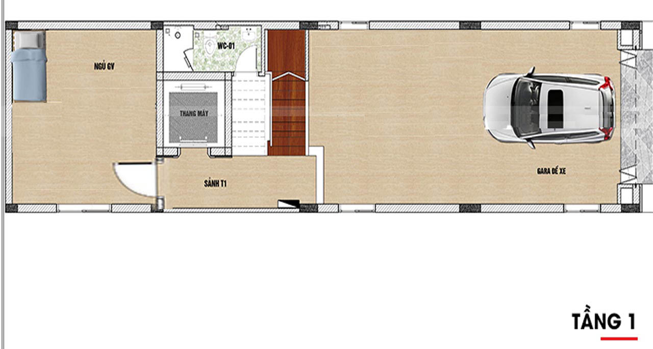 Bản vẽ nhà 6 tầng