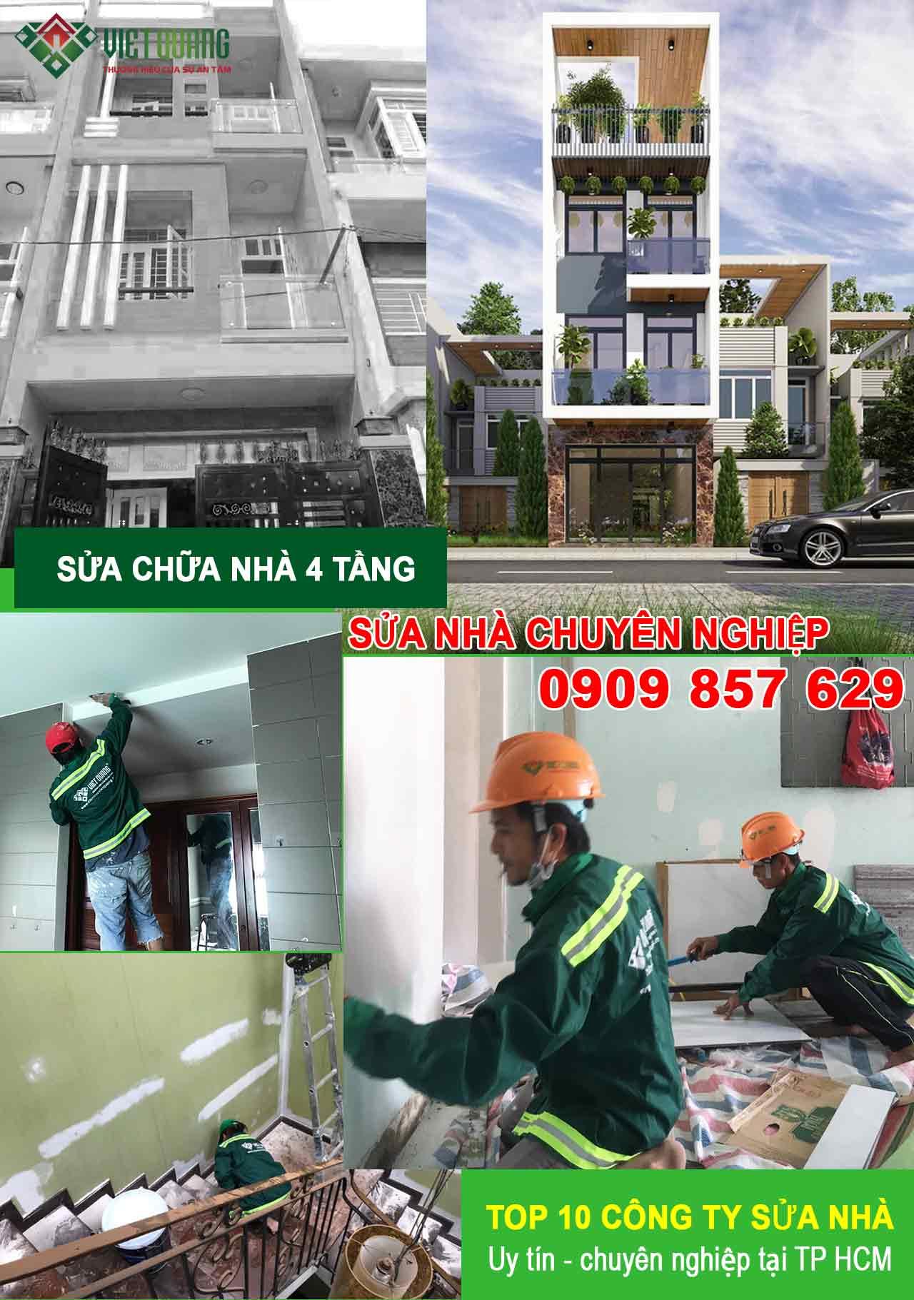 Sửa nhà 4 tầng