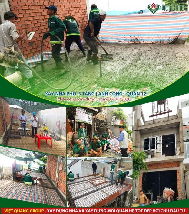 Tiến độ thi công 05 công trình xây nhà mới tháng 07
